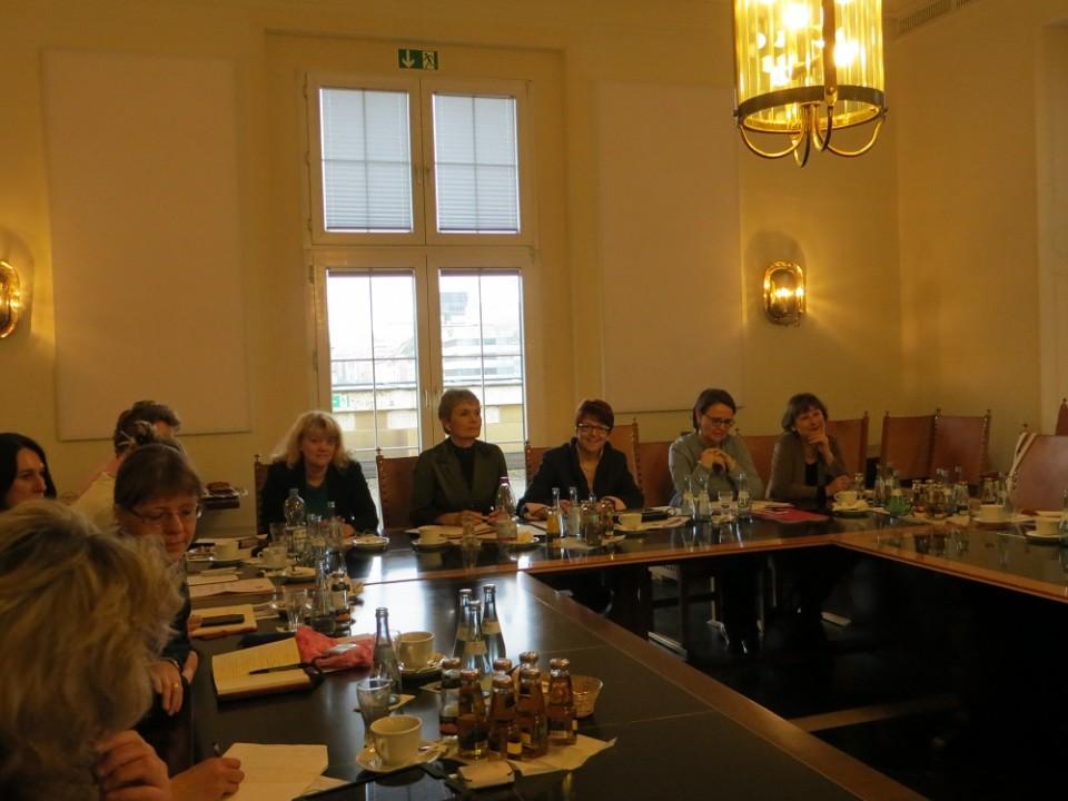 v.l.n.r. Helga Gund, Friedlinde Gurr-Hirsch, Dr. Inge Gräßle, Annette Widmann-Mauz, Dr. Marianne Engesser
